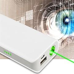 -lt OZ11 puntero láser verde banco de energía recargable (1mW, 532nm, 1x18650, blanco)