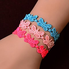 European Fashion Sweet Lace Butterfly  Bracelet(1PC)(Assorted Colors)