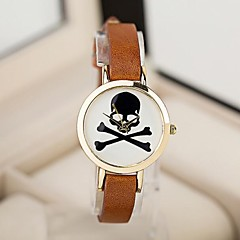 Women's Fashion Slim Skull Pattern Quartz Bracelet Watch(Assorted Colors) Cool Watches Unique Watches