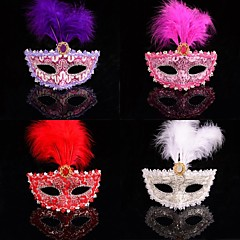 Fashion Color Feather Lace Carnival Mask