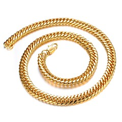 Personality Domineering 18K Gold Plating Man Gold Necklace