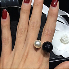 Lureme®Fashion Pearl Open Adjustable Ring\