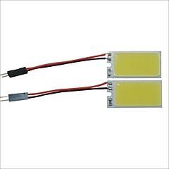 Carking™ T10 / BA9S / Festoon 28mm~40mm 2.5W 18-COB LED White Car Interior Dome Light(20*40mm)2PCS