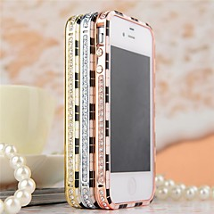 Noble Diamonds Inlay Alloy Bumper Frame for iPhone 4/4S