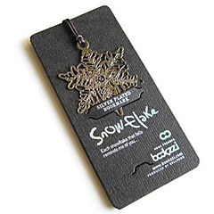 Snowflakes Fine Stainless Steel Bookmark