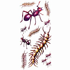 1pc Animal Ant Waterproof Tattoo Sample Mold Temporary Tattoos Sticker for Body Art(18.5cm*8.5cm)