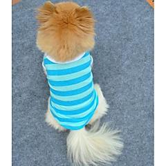 Gatos / Perros Camiseta Rojo / Azul Ropa para Perro Verano Rayas Cosplay