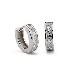 Stangøreringe Store øreringe Sølv Imitation Diamond Legering Fødselssten Sølv Smykker Fest Daglig Afslappet 2 Stk.