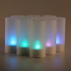 12st ljudsensor flimmer 7 färgskiftande ledde levande ljus