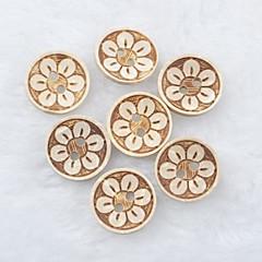 bloempatroon scrapbook scraft naaien diy kokosnoot knoppen (10 stuks)
