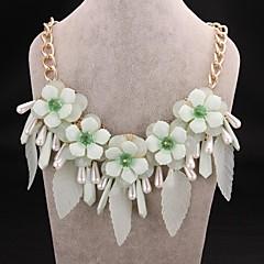 Fashion Luxury Crystal Flower Gem 18K Necklace
