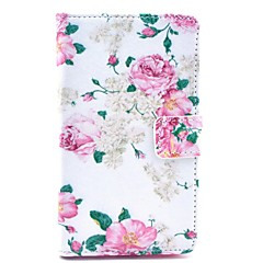 COCO FUN® Rose Flower Pattern PU Leather Full Body Case with Screen Protector, Stylus and Stand for Nokia Lumia N625
