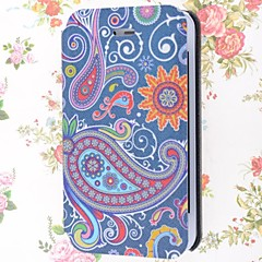 Jellyfish Pattern PU Leather Full Body Case with Stand and Card Slot for iPhone 4/4S