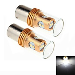 2Pcs 1156 / BA15S 8W 8x2323SMD 450LM 6000K White Light LED for Car Turn Steering / Reversing Lamp (DC 12-24V)