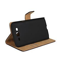 Na Samsung Galaxy Etui Etui na karty / Z podpórką / Flip Kılıf Futerał Kılıf Jeden kolor Skóra PU Samsung Grand 2