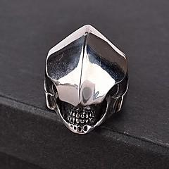 z&x® Punk gothick Vintage-Stil Ritter Titan Stahl Herren Aussage Ring