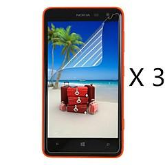 (3 pezzi) professionale ad alta definizione protezione dello schermo con panno di pulizia per Nokia 625