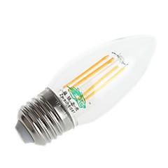 4w e26 / e27 ledede glødelamper pære c35 4 dip led 250-300 lm varm hvid / kølig hvid ac 220-240 v