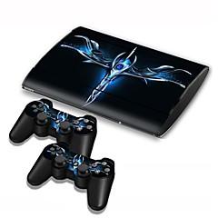 PS3 Slim Konsola 4000 pokrywa ochronna naklejka naklejki sterownik skóry skóry