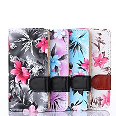 Floral Pattern PU Leather Full Body Cover with Card Slot and Stand Cave for Samsung Galaxy Alpha G850F (Assorted Color)