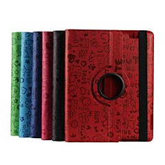 9.7 Inch  360 Degree Rotation Faerie Pattern Case with Stand for iPad 2/3/4(Assorted Colors)