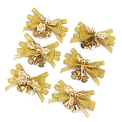 6PCS Nochi 4*7cm Gold Cloth Christmas Ring-down Christmas Decorations