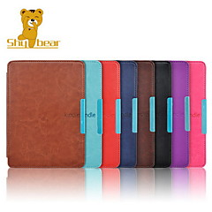 Shy Bear™ Crazy Horse Leather Cover Case for Amazon Kindle Paperwhite 6 Inch Ebook