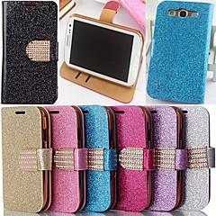 estilo pó glitter couro pu de corpo inteiro com suporte e slot para cartão para Samsung Galaxy S3 i9300 (cores sortidas)