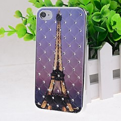 Cartoon Towers Pattern Hard Case for iPhone 4/4S
