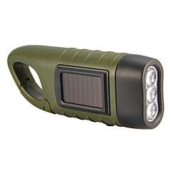 kéz-és napenergia-termelés LED zseblámpa (zöld)