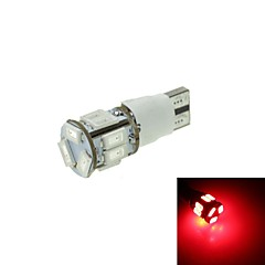t10 førte 2-mode rød 5W 11x5630smd 550lm til bil bremse lys (dc12-16v)