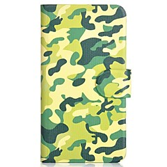 Camouflage Pattern PU Mobile Phone Holster With Card Slot for iPhone 4/4S