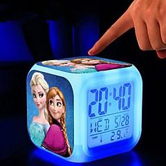 7 changement de couleur réveil numérique conduit thermomètre nuit colorées jouets rougeoyantes