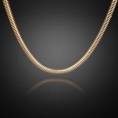 aldrig blekna jack för män 24k äkta guld guldpläterade figaro tjock runt halsband av hög kvalitet för män 8mm 75cm