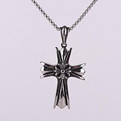 z&X® do punk vintage titânio cruz pingente de aço colar homens gothic