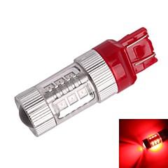 GC® T20 / 7443 80W 16-Samsung SMD 850lm Red Light LED For Car Brake Light (DC12~24V)