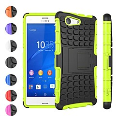 Two-in-One Tire Grain Design PC and Silicone Case with Stand Sony Xperia Z3 Mini (Assorted Colors)