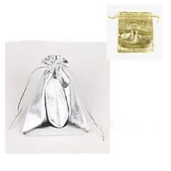 (10PC) 9 * 12cm 보석 포장 가방 선물 가방 (금,은)
