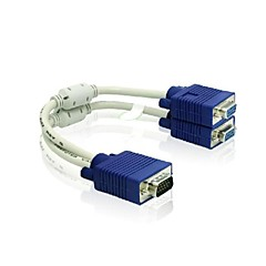 1 x VGA Male to 2 x VGA Female Cable VGA Splitter