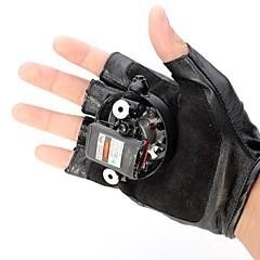 remolino guantes láser remolino verde y rojo lt-8885 (5mw.532nm&650.built del li-ion recargable battery.black)