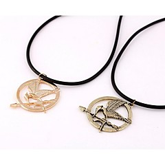 Golden / Coppery Pendant Necklaces Alloy / Leather Wedding / Party / Daily / Casual / Sports Jewelry