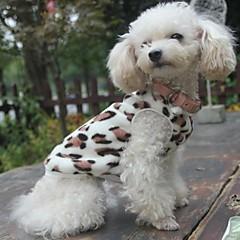Kat Hund Sweatshirt Pyjamas Hundetøj Afslappet/Hverdag Leopard Sort