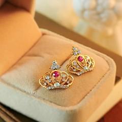 piękne kryształowe kolczyki korona