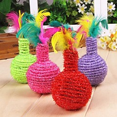 Cat Toy Dog Toy Pet Toys Interactive Feather Toy Vase Tumbler Textile