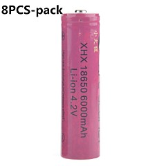 Fire Scarlet 6000mAh 18650 Rechargeable Lithium Ion Battery (8pcs)