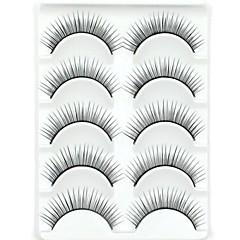 New 5 Pairs European Fiber Black Long Thick False Eyelashes Eyelash Eye Lashes for Eye Extensions