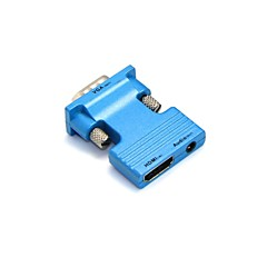 lwm® HDMI hun til VGA han og 3,5 mm audio out adapter til PC lcd