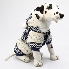 Perros Saco y Capucha Rojo / Azul Invierno Copo Navidad / Año Nuevo