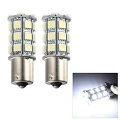 Merdia 5W 115LM 1156 27x5050SMD LED White Light Flashing Light / Brake Light / Fog Light(2 PCS/12V)
