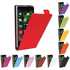 flip-ouvert en cuir véritable pleine cas de corps pour Nokia Lumia 830 (couleurs assorties)
